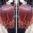 Gemini Hair style_curls ombre pink purple